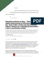Entrevista exclusiva com a psicanalista dra. Tania Coelho sobre homossexualidade e os movimentos sociais - Felipe Moura Brasil.pdf
