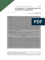 A PSICOLOGIA FORENSE E A IDENTIFICAÇÃO DE INDIVÍDUOS PSICOPATAS