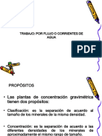 Concentración Por Flujos o Corrientes de Agua