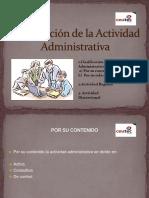 Clasificación de La Actividad Administrativa (1)