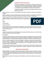 Organización Política de CentroAmerica