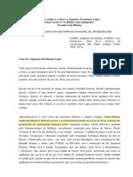 Carta Amiga (e Crítica) a Augustus Nicodemos Lopes - (Contra o MHG)