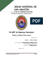 Manual de Organización y Funciones Gerencia de Finanzas y Contabilidad