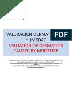 Valoración de dermatitis por humedad