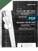 Samuel Flor - Escalas violín - Violin scales
