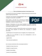 Saudação PS - Programa Nacional de Investimento 2020- 2030