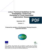 2011 - EWGLI Technical Guidelines for the Investigation, Control and Prevention of Travel Associated Legionnaires Disease