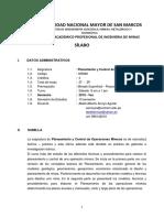 Silabo Planeamiento y Control Oper Mineras 2019 Vac Abdel Arroyo