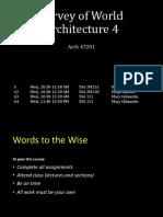 Survey of Architecture - Intro