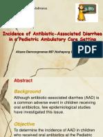 Incidence of Antibiotic-Associated Diarrheain a Pediatric Ambulatory Care Setting