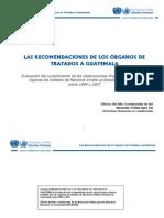 Las recomendaciones de los Órganos de Tratados a Guatemala