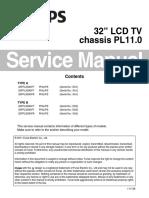 Diagrama de Pantalla Philips Modelo 32pfl3506 f7 y 32pfl3000 f8 Chasis Pl11.0