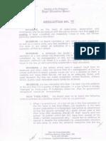 Resolution No. 16