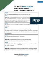 Lesson 22 - Sentences for Anki en-En