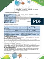 Guía de Actividades y Rúbrica de Evaluación - Actividad 1 Presentar Trabajo de Reconocimiento