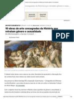 10 Obras de Arte Consagradas Da História Que Retratam Gênero e Sexualidade