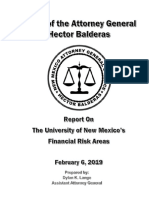 Feb. 6, 2019 UNM Report on Financial Risk Areas