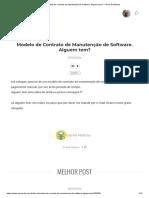 Modelo de Contrato de Manutenção de Software. Alguem Tem_ - Fórum DevMedia