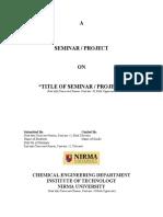 Seminar Project Format[1]