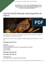 Lista de Leitura Ordenada_ Santo Agostinho de Hipona