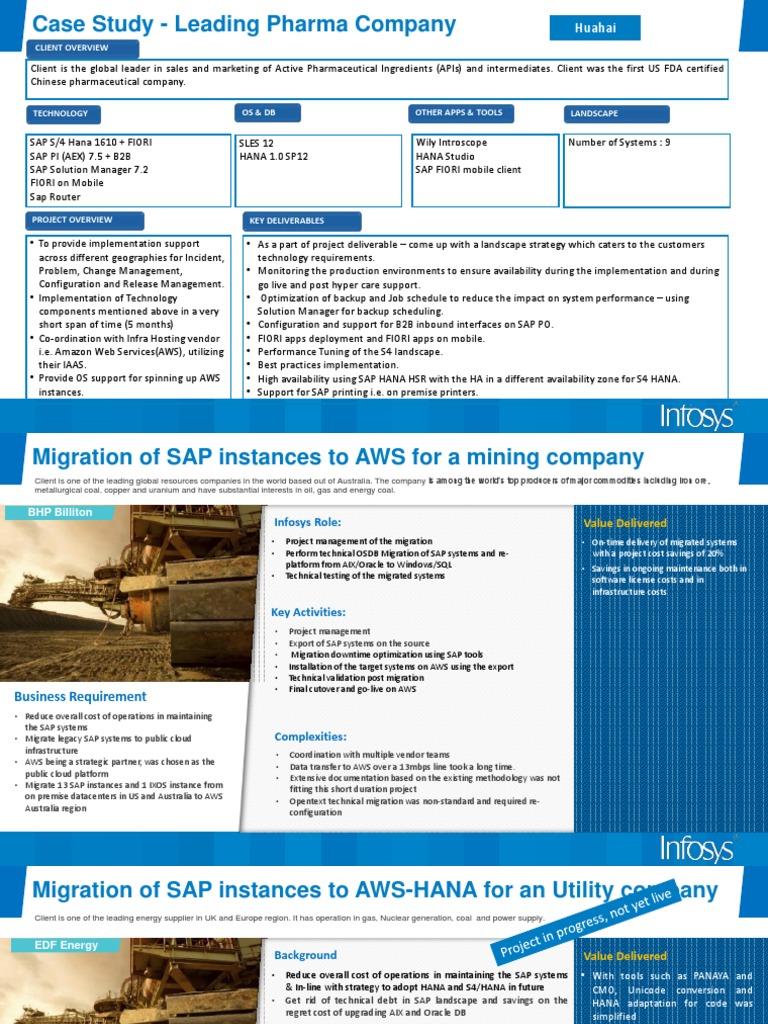 SAP Migration case study   Sap Se   Oracle Corporation