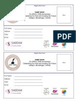 Sample of Event Registration Form