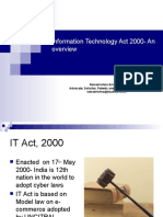 Information Technology Act 2000- An Overview