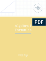 Algebra 1.Formulas