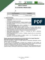 Primaria ATLETISMO Anexo Técnico