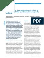 Immunoglobulin Use in Immune Deficiency in the UK- A Report of the UKPID and National Immunoglobulin Databases