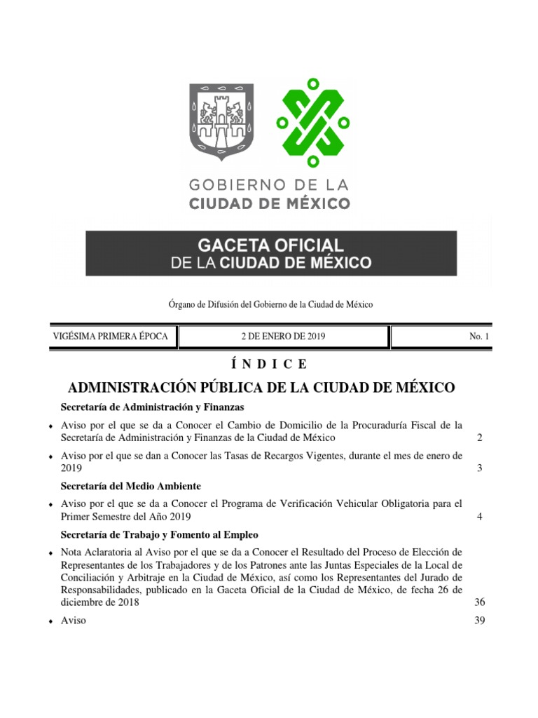 Aviso Verificacion 2019 México Contaminación Del Aire