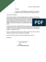 Señores Del SAIME, Carta de Yhosmar