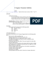 Organic Chemistry Syllabus Final Version