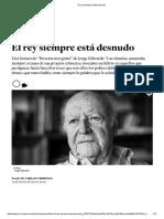 El Rey Siempre Está Desnudo Por Juan Carlos Chirinos