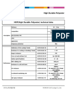 Technical Data of HDP
