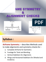 7 Airframe Symmetry Alignment Checks