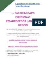 360 Slim Caps Emagrece Emagrecedor 2019 Bula Onde Comprar
