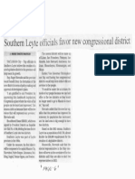 Manila Bulletin, Feb. 7, 2019, Southern Leyte officials favor new congressional district.pdf