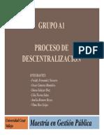 Ppt Proceso de Descentralización Final