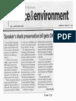 Philippine Star, Speaker's shark preservation bill gets OK.pdf