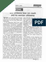 Tempo, Feb. 7, 2019, Bill widens law on cash aid to senior citizens.pdf