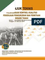 Juknis Kontrol Kualitas Pekerjaan Pengukuran PTSL 2019