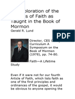 An Exploration of the Process of Faith as Taught in the Book of Mormon