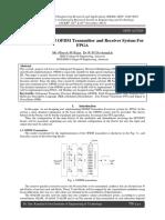 Implementation of OFDM Transmitter and Receiver System For FPGA
