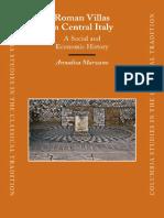 Marzano, Roman Villas in Central Italy. a Social and Economic History,Brill 2007