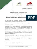 Communiqué Presse Élections Chambre 2019