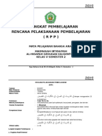 RPP MI Bahasa Arab Kelas 5 SMT 2