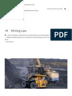 Mining Law