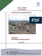 Geotech Report, ZHB010