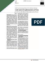 Speleologi, venti anni di esplorazioni col GSU - Il Resto del Carlino del 6 febbraio 2019